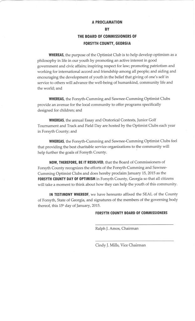 Proclamation 001